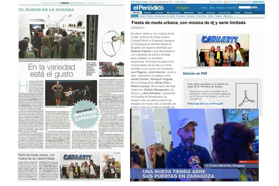 carhartt gestion prensa Zaragoza