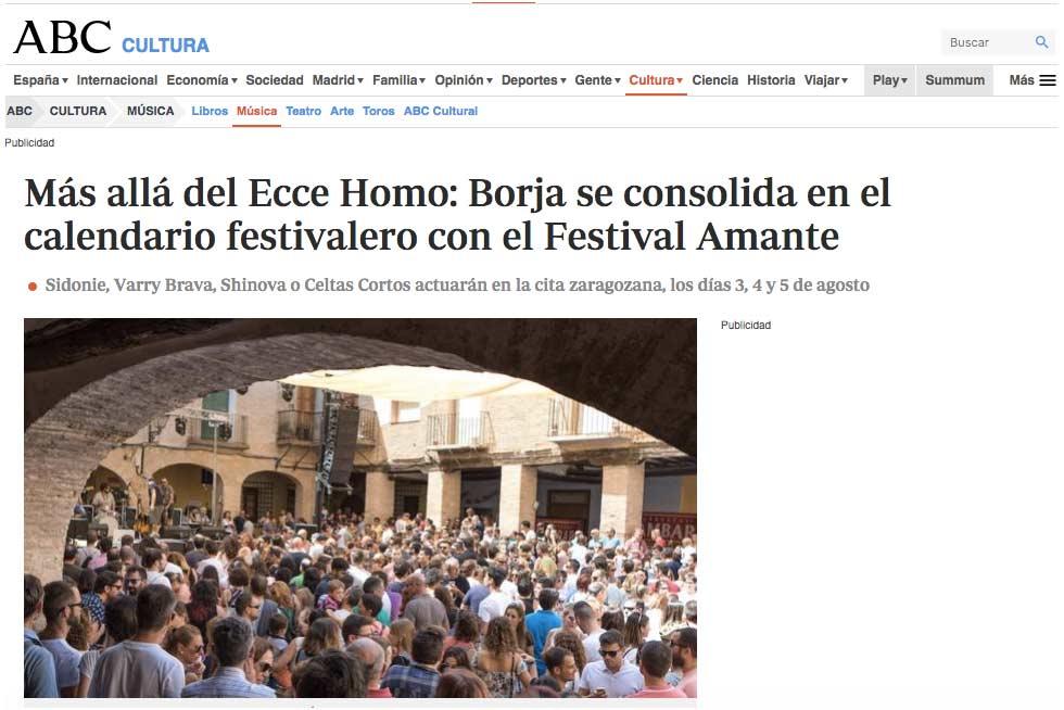 Gestión de prensa para Festival Amante